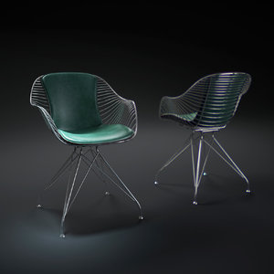 3d wire dining chair
