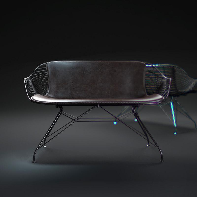 wire-lounge-sofa 3d max