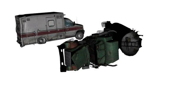 wrecked pack obj