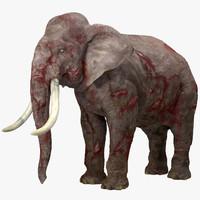 obj wounded elephant