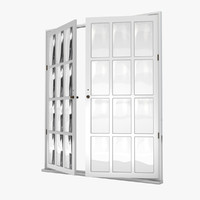 3d french doors