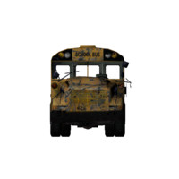 bus wreckend 3d model