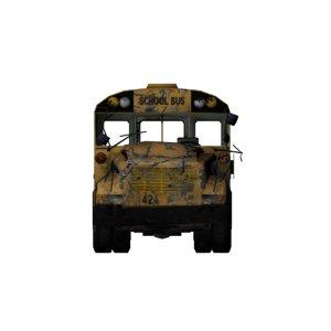 bus wreckend 3d model