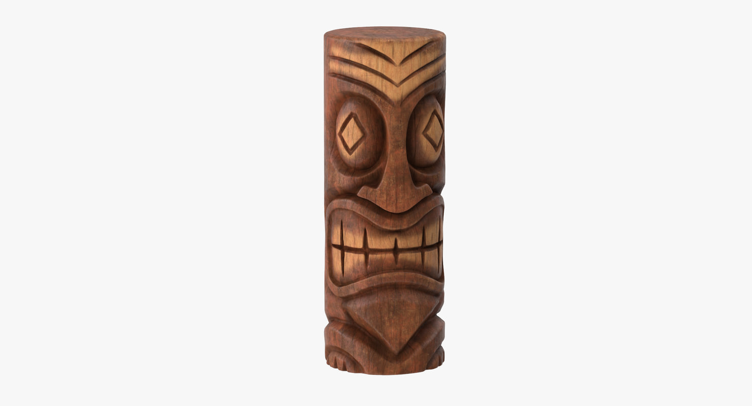 tiki faces 3d model
