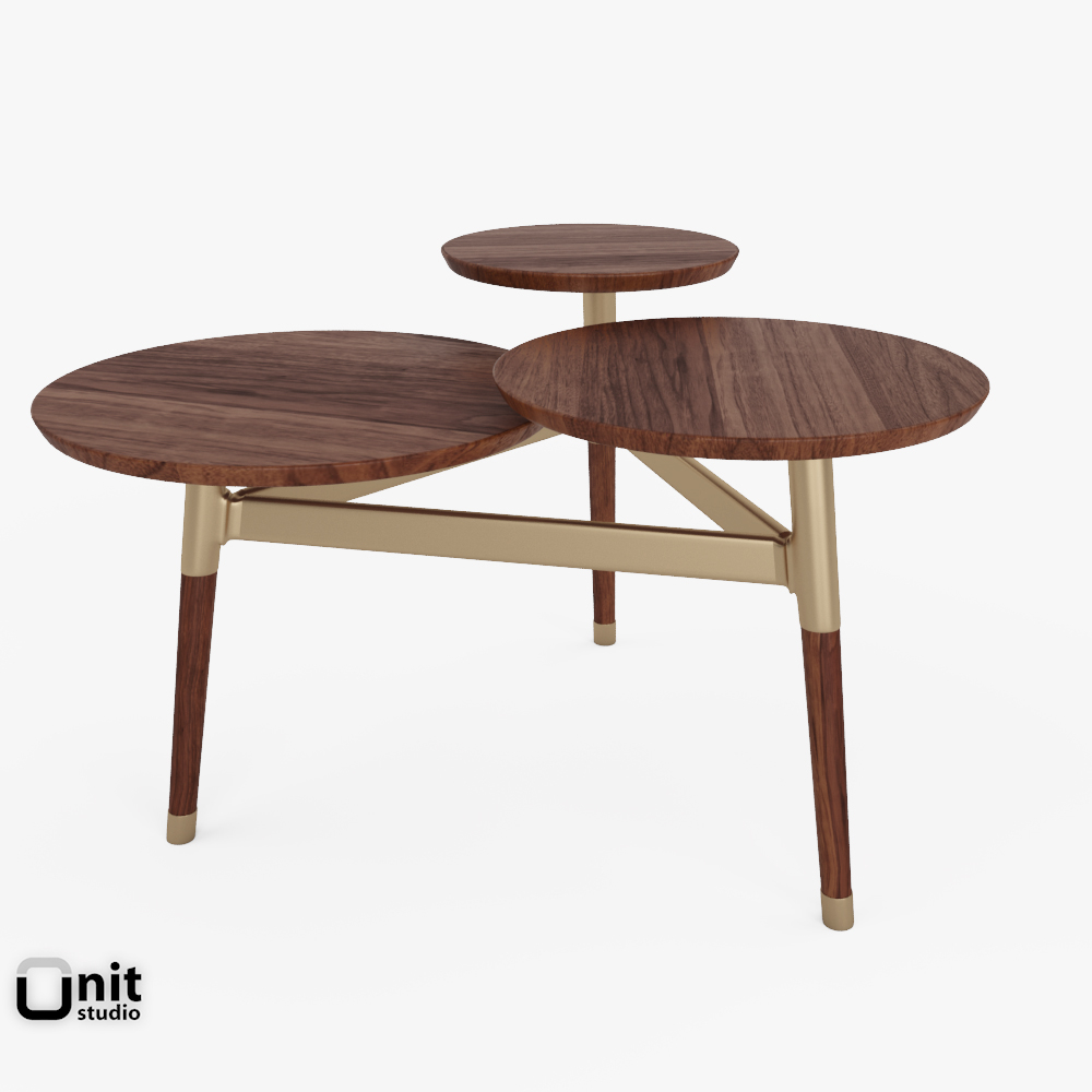 Clover Coffee Table West 3d Model