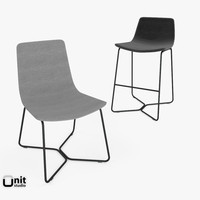 3d model slope stool chair west