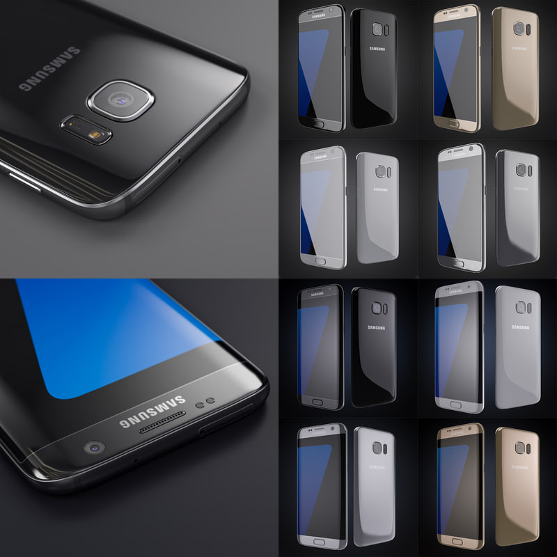 3d model smartphones colors samsung galaxy