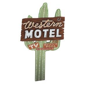 motel sign western 3d model