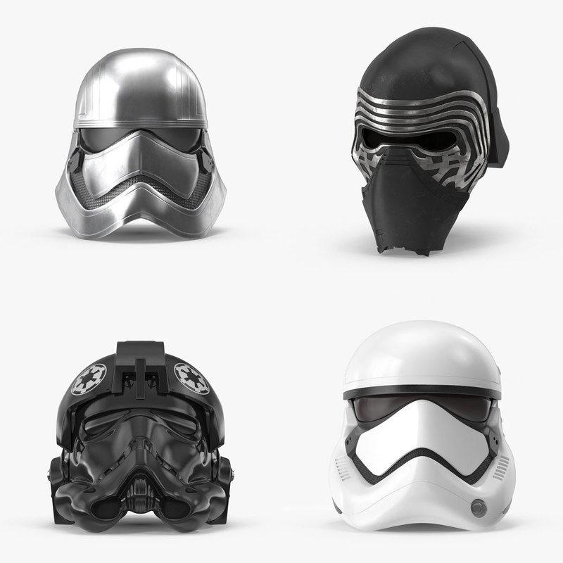 3d force awakens helmet