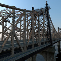 queensboro bridge roosevelt island c4d