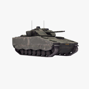 cv90 infantry fighting vehicle 3d model