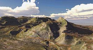 3d 3ds desert mountain
