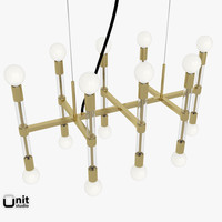 3ds acrylic framework chandelier lights