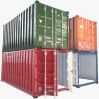 20ft Cargo Containers Props Pack