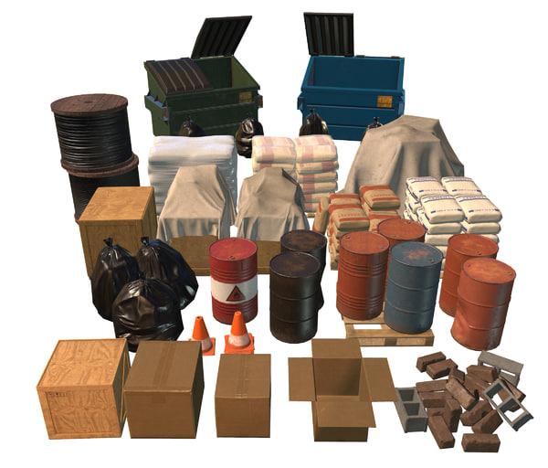 pack props 3d max