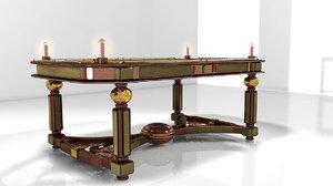 table steampunk 3d c4d