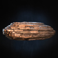 Layered Rock 3D Model