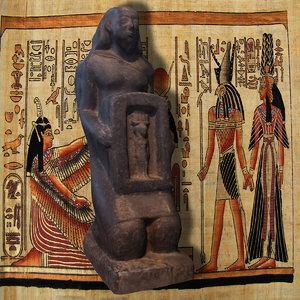 statue harpocrates 3d model