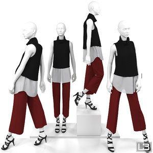 woman mannequin 3d model