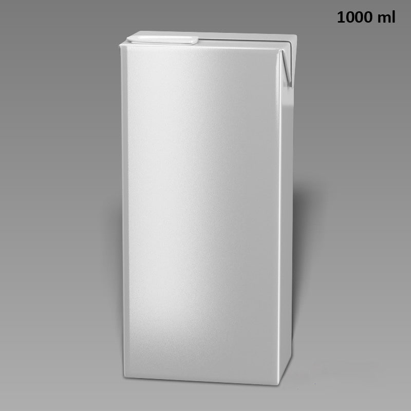3d model drink box slim 1000ml
