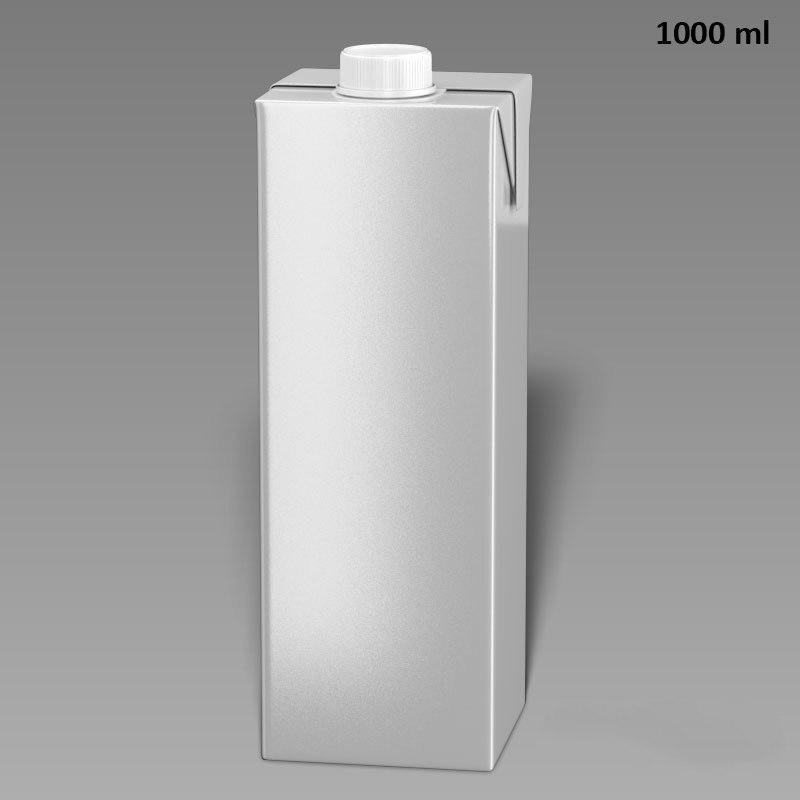 3d model drink box 1000ml water