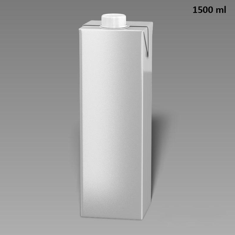 3d model drink box 1500 ml