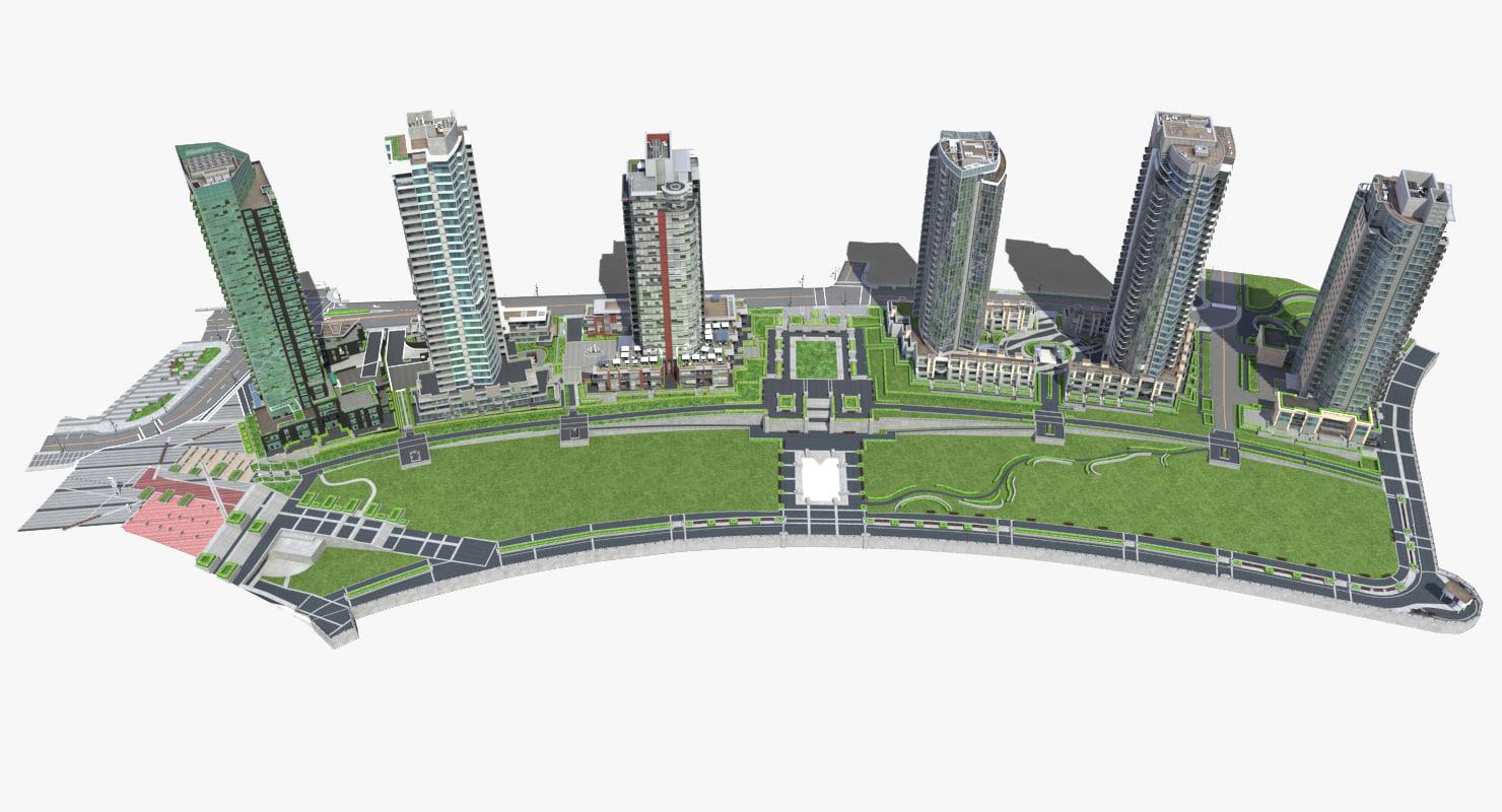 block buildings 3d max