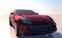 3d model of ferrari ff 2008
