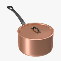 3d model of 3 5 qt saucepan