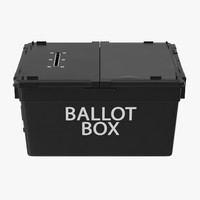 ballot box 3d model