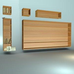book shelving shelf 3d model