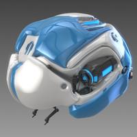 bionic brain concept 3d model