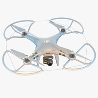3d dji phantom 3 quadrocopter model