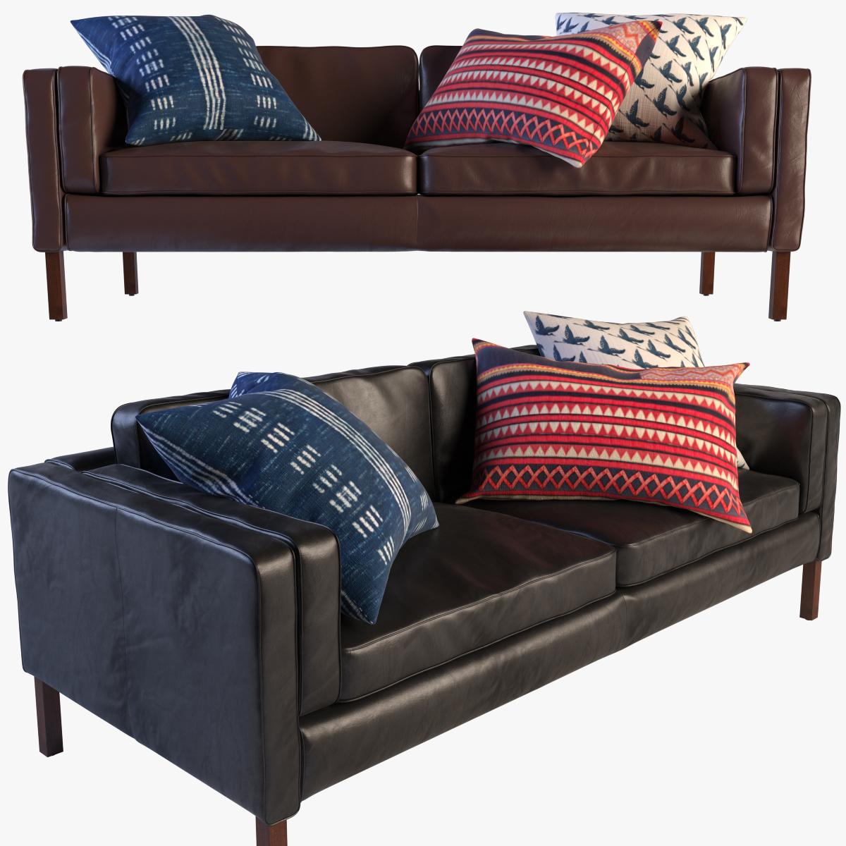 Austin Low Profile Leather Sofa Set