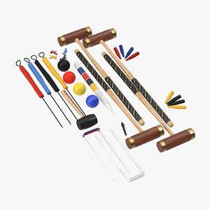 croquet set 3d model