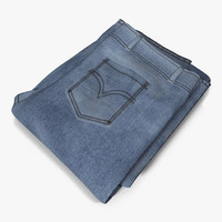 jeans folded 4 3d max