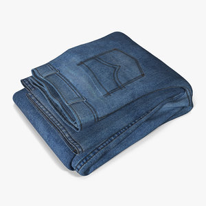 3ds jeans folded 3