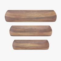 max wooden serving rectangular plate