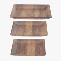 Wooden Serving Plate Square