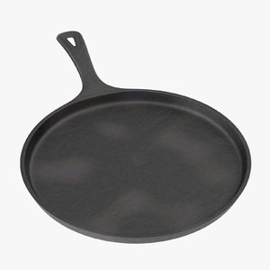 3d cast iron griddle model