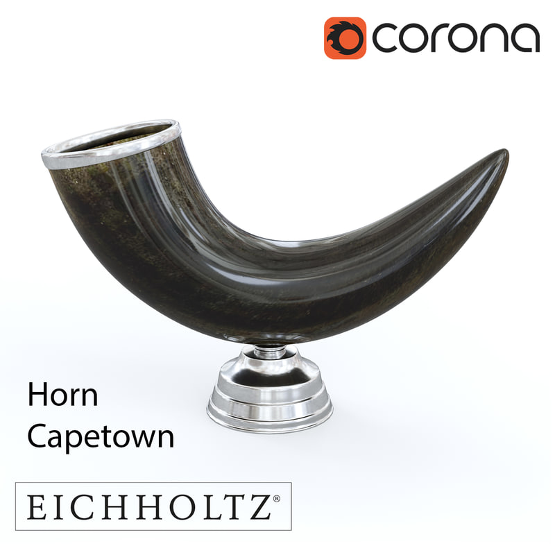 3d model of horn capetown eichholtz