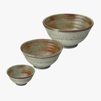3d pottery bowl 01