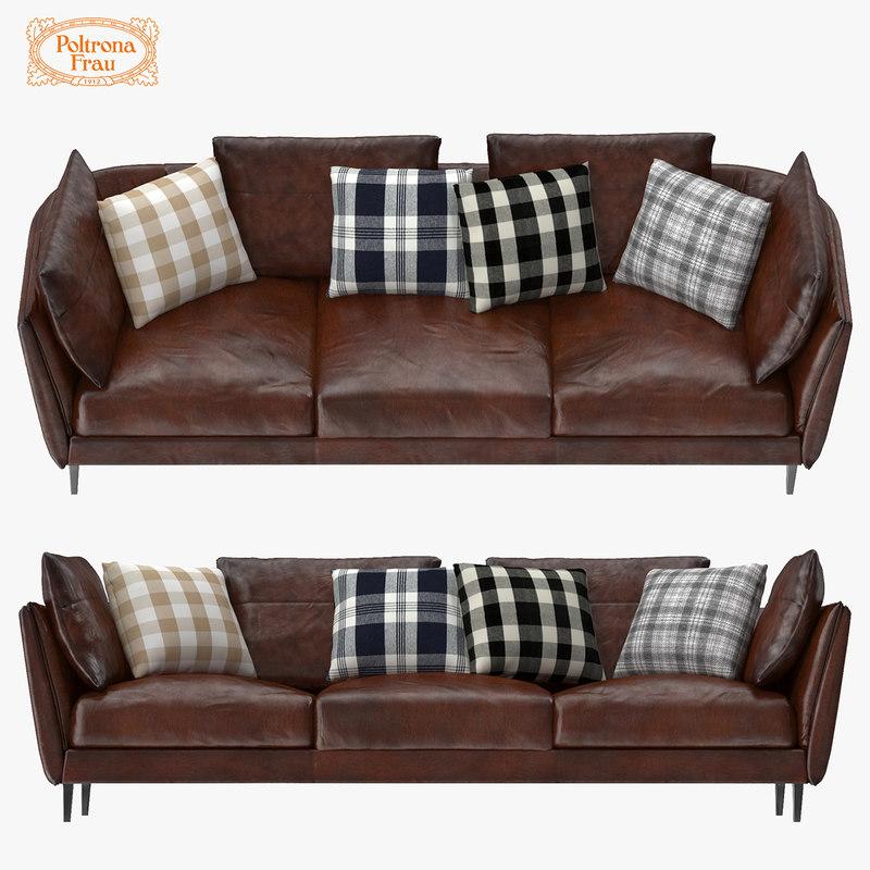 3d poltrona frau bretagne sofa