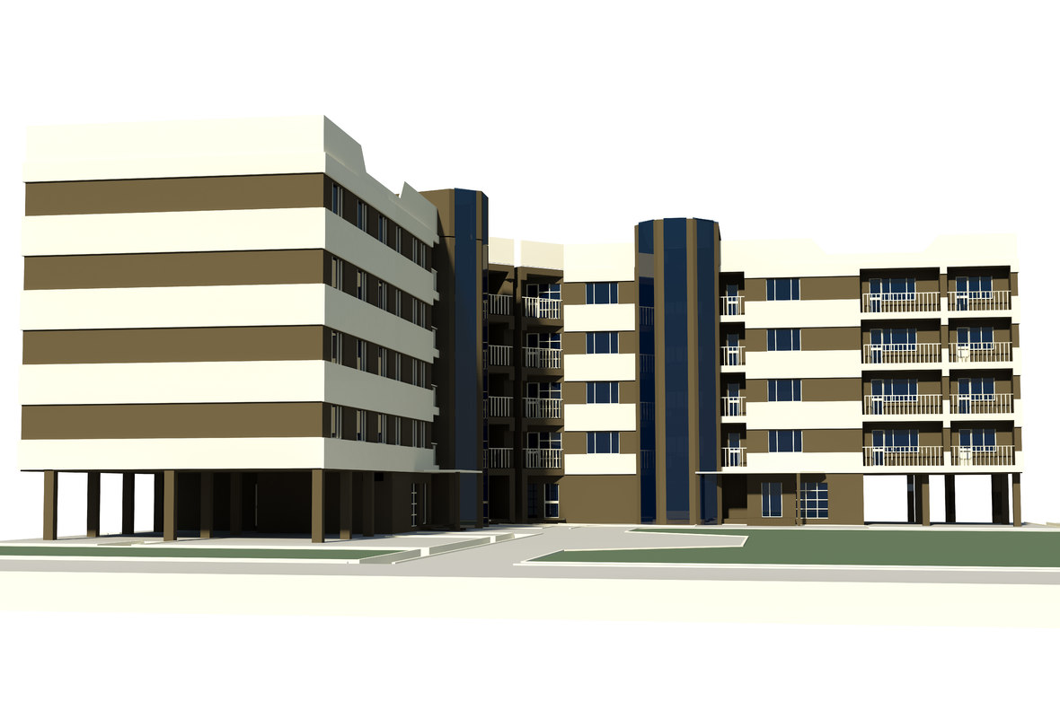multi dwelling house 3d max
