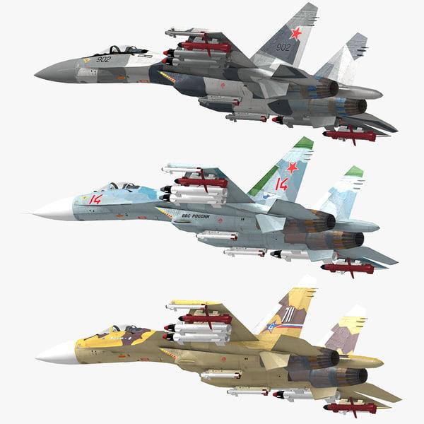 3d model russian jet fighters