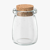 glass jar cork stopper 3d max