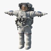astronaut cosmonaut human 3d model