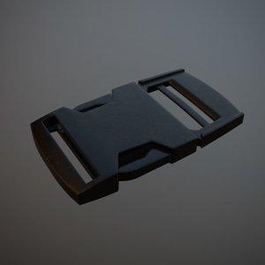 3d model snap buckles