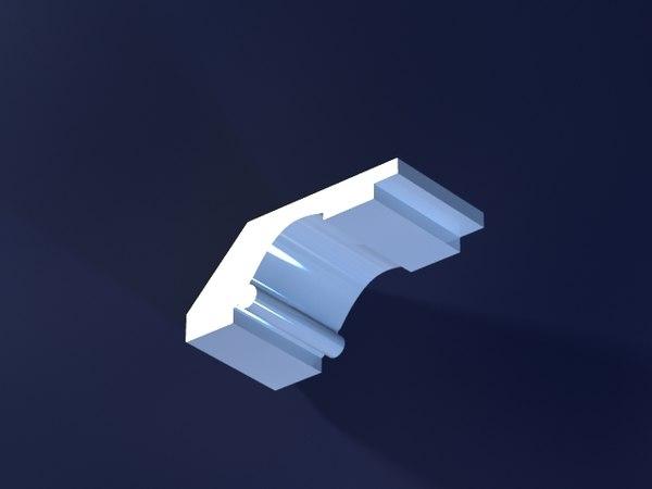 3d cornice mold print model