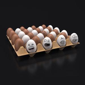 3d model egg tray